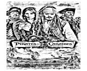coloriage film pirates des caraibes 4 dessin à colorier