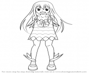 Coloriage how to draw Wendy Marvell from Fairy Tail step 0