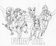 Coloriage fairy tail lucy 15019