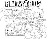fairy tail vol 27 by seky01 d4flmw7 dessin à colorier