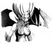 fairy tail mirajane demon by angy89 d2yg7hq dessin à colorier