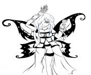 Coloriage moon fairy lineart by rockstarfreak d342sfa