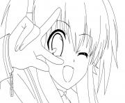 fille manga 87 dessin à colorier