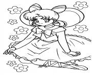 fille manga 23 dessin à colorier