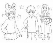 fille manga 91 dessin à colorier