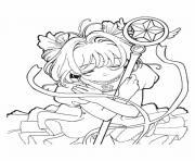fille manga 17 dessin à colorier