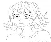 fille manga 31 dessin à colorier