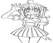 fille manga 35 dessin à colorier