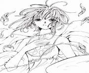 manga 9 dessin à colorier