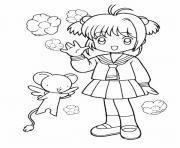 fille manga 15 dessin à colorier