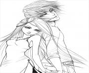 Coloriage Manga Fille Et Garcon.Coloriage Manga A Imprimer Dessin Sur Coloriage Info