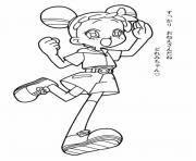 fille manga 137 dessin à colorier