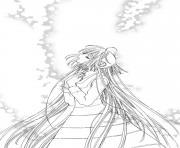 fille manga 26 dessin à colorier