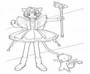 fille manga 118 dessin à colorier