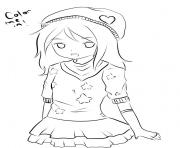 fille manga 124 dessin à colorier