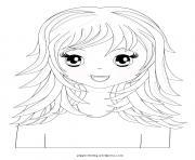 fille manga 38 dessin à colorier