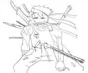 Coloriage manga naruto 34 dessin
