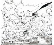 manga naruto kyubi 16 dessin à colorier