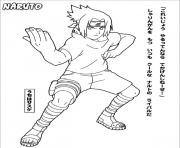 manga naruto 198 dessin à colorier