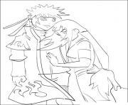 Coloriage manga naruto 36 dessin