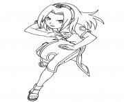 Coloriage manga naruto 178 dessin