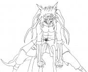 Coloriage naruto demon renard a 9 queues dessin