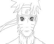 Coloriage manga naruto sasuke 284 dessin