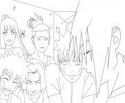 Coloriage manga naruto 127 dessin