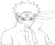 manga naruto 17 dessin à colorier
