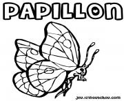 Coloriage papillon 119