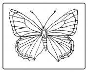 papillon 2 dessin à colorier