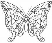 Coloriage papillon 223