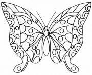 papillon 223 dessin à colorier