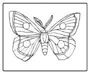 papillon 9 dessin à colorier