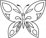 Coloriage papillon 47