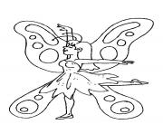 Coloriage papillon 286