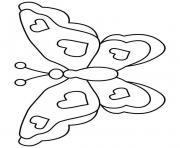 papillon 7 dessin à colorier