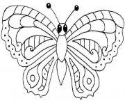 papillon 17 dessin à colorier