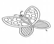 papillon 225 dessin à colorier