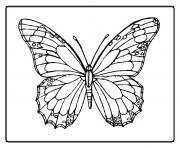 papillon 8 dessin à colorier