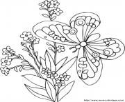 Coloriage papillon 94