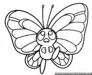 papillon 13 dessin à colorier
