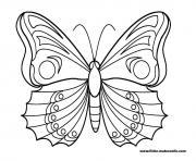 papillon 15 dessin à colorier