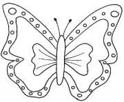 papillon 18 dessin à colorier