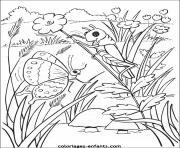 papillon 227 dessin à colorier