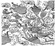antistress oiseaux dessin à colorier