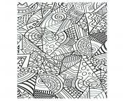 formes geometriques harmonieuses dessin à colorier