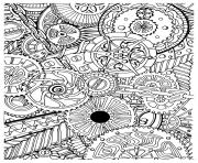 adulte zen anti stress mecanismes a imprimer dessin à colorier