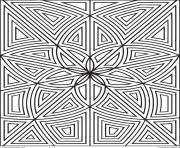 labyrinthe fleurs zen dessin à colorier