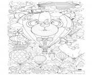 adulte montgolfiere zen anti stress a imprimer dessin à colorier